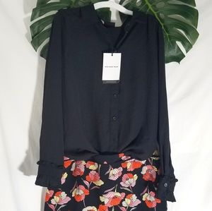 Who What Wear Outfit Pencil Skirt Top Med Floral